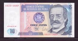 PEROU 1987 10 INTIS    NEUF UNC P129 - Perù