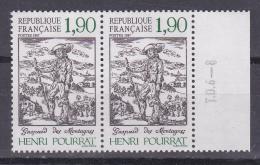 N° 2475 Centenaire De La Naissance D´Henri Pourrat : Une Paire De 2  Timbres Neuf Sans Charnière - France