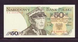 POLOGNE 1988 50 ZLOTYCH  NEUF UNC P142 - Pologne