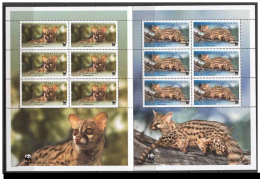 (WWF-409) W.W.F. Central African / Civet MNH Sheetlets 2007 - W.W.F.