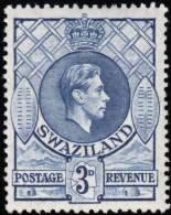 SWAZILAND - Scott #31 George VI / Mint H Stamp - Swaziland (...-1967)
