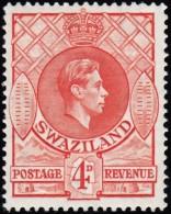 SWAZILAND - Scott #32 George VI / Mint H Stamp - Swaziland (...-1967)