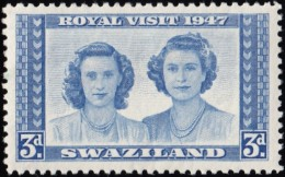 SWAZILAND - Scott #46 Royal Visit (*) / Mint H Stamp - Swaziland (...-1967)
