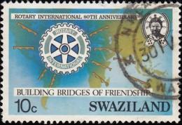 SWAZILAND - Scott #471 Rotary International, 80th Anniv. / Used Stamp - Swaziland (1968-...)