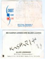"""Eintrittskarte """"Ein Schweinchen Namens Babe"""" Schubert-Kino Cafe Graz Mehlplatz Biglietto Entradakaartje Bilet Ticket - Eintrittskarten"""