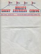 CIRQUE - Lettre Commerciale à En-tête Illustrée HOXIE'S GREAT AMERICAN CIRCUS - United States