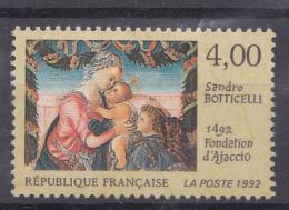 N° 2754 500ème Anniversaire Fondation Ajaccio Détail D´une Oeuvre De  Botticelli :un Timbre Neuf - Neufs