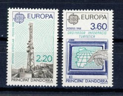 SERIE 2TIMBRES** ANDORRE 1988 # TRANSPORT COMMUNICATION # N°369 370 # EUROPA - Europa-CEPT