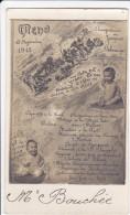 CPA BEBES MENU 18 NOVEMBRE 1915 MON PAPA EST A LA GUERRE  EN MON HONNEUR IL OFFRE UN DINER A SES AMIS - Bébés