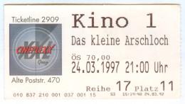 """Eintrittskarte Kino """"Das Kleine Arschloch"""" Kleines Walter Moers 1997 Comic Graz Biglietto Entrada Kaartje Bilet Ticket - Eintrittskarten"""