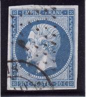 France 1860 - N° 14B (14 B) - Oblitération Losange Et Petit Cachet à Date - TB (Lot 8) - Marcophily (detached Stamps)