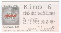 Eintrittskarte Kino Der Club Der Teufelinnen The First Wives Club Bette Middler Biglietto Entrada Kaartje Bilet Ticket - Eintrittskarten
