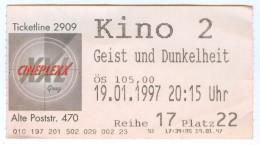 Eintrittskarte Kino Der Geist Und Die Dunkelheit 1997 The Ghost And The Darkness Michael Douglas Val Kilmer Biglietto - Eintrittskarten
