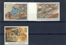 3 TIMBRES** ANDORRE ART ROMAN ET PRE ROMAN  # 1983 1984 1987 - Oblitérés