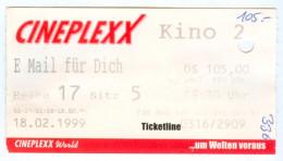 Eintrittskarte Kino E-m@il Für Dich You've Got Mail Tom Hanks Meg Ryan 1999 Film E- Biglietto Entrada Kaartje Ticket - Eintrittskarten