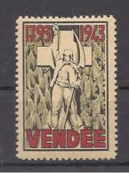 FRANCE --- ERINOPHILIE --- Vignette VENDEE  1793 - 1943 - Erinnophilie