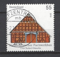 BUND Mi-Nr. 2824 Niederdeutscher Fachwerkbau (1734), Trebel-Dünsche Gestempelt (2) - BRD