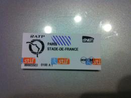 Ticket De Métro Paris - Metropolitana