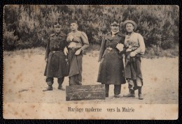 """DE L'HUMOUR à BOURG LEOPOLD - """" MARIAGE MODERNE VERS LA MAIRIE """" HUMOR IN LEOPOLDSBURG - Leopoldsburg (Kamp Van Beverloo)"""