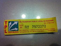 Ticket Bus Suceava (Roumanie) - Subway