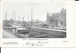 "Aalst / Alost - L'Ecluse Et Le Bassin De Natation - Ep"" Joseph Cornélis - Circulé: 1899 - Aalst"