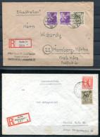 3974 - SBZ - Mi.Nr. 2 (2) + 7 Sowie 3 + 7 Auf Zwei Einschreibe-Briefen - Zone Soviétique