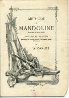 PARTITION MANDOLINE MÉTHODE ZANOLI ±1900 AVEC VIGNETTES ILL BARBIZET - Music & Instruments