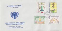 Enveloppe FDC  1er Jour   NOUVELLES  HEBRIDES   Noël  1979 - FDC