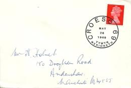 UK 1969 Tywyn Merioneth >> Manchester / Croeso - Lettres & Documents