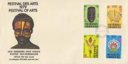 Enveloppe FDC  1er Jour   NOUVELLES  HEBRIDES   Festival  Des  Arts  1979 - FDC