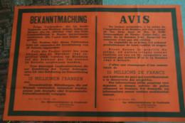 GUERRE 1939-1945- WW2- AFFICHE ORIGINALE  -AVIS MEURTRE DU FELDKOMMANDANT DE NANTES- 20 -10-1941- PARIS LE 21-10-1941- - Afiches