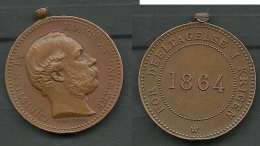 Denmark Commemorative Medal For The War Of 1864 (Krigsmindemedaille 1864) - Pièces écrasées (Elongated Coins)