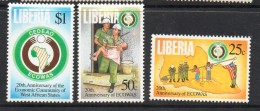 1995 Liberia ECOWAS  Military Army Complete Set Of 3 MNH - Liberia