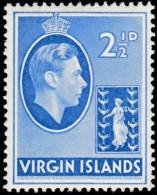 VIRGIN ISLANDS BRITISH - Scott #80 King George VI (*) / Mint LH Stamp - British Virgin Islands