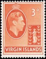 VIRGIN ISLANDS BRITISH - Scott #81 King George VI / Mint LH Stamp - British Virgin Islands