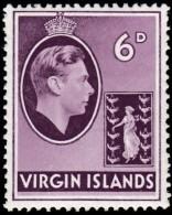 VIRGIN ISLANDS BRITISH - Scott #82 King George VI (*) / Mint H Stamp - British Virgin Islands