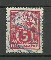 ESTLAND Estonia 1922 Michel 37 A O Violet Cancel Tallinn-Vaksal - Estonie