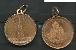 Medaille 1892 St. Nicolaikirche 50. J. Gedenkfeier An Den Hamburger Brand - Souvenirmunten (elongated Coins)