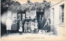 78 - BOINVILLE - Groupe Devant Le Café - Très Beau Cliché ! - Otros Municipios
