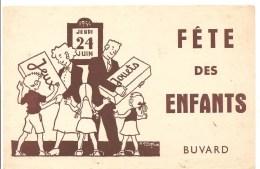 Buvard Jeudi 04 Juin 1954 Fête Des Enfants Jeux Jouets - Kids