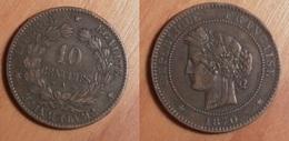 Cérès - 10 Centimes 1870A - Frankreich