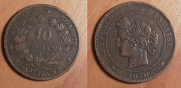 Cérès - 10 Centimes 1870A - France