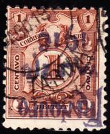 Peru 1916 1c On 1c Deficit Inverted Overprint. Scott 204. Used. - Peru