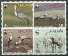 Malawi 1987 WWF Naturschutz Klunkerkranich 477/80 X Postfrisch - Malawi (1964-...)