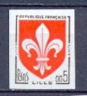FRANCE NON DENTELE ** (imperforate) - N° 1230  Armoiries De Villes. Lille. - Ungezähnt