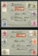 3981 - SBZ - Mi.Nr. 138-149, Kompletter Satz Auf 2 R-Briefen - Zone Soviétique