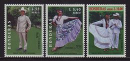 Honduras, Series Natinal Costumes AMERICA UPAEP 1997, Scott C986-C988, MNH - Honduras