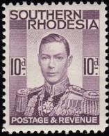 SOUTHERN RHODESIA - Scott #49 King Gerorge VI / Mint H Stamp - Southern Rhodesia (...-1964)