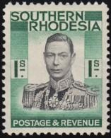 SOUTHERN RHODESIA - Scott #50 King Gerorge VI / Mint H Stamp - Southern Rhodesia (...-1964)