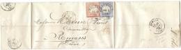 LPP14- ALSACE LORRAINE -AFFR.T BICOLORE ALLEMAND SUR FACTURE COULAUX & Cie  MOLSHEIM  26/3/1873 POUR ROMANS - Alsace-Lorraine
